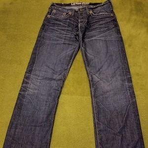 Donating Soon...Mens LA DENIM Blue Jeans-32x33 1/2